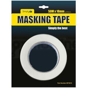Simply Masking Tape DIY Painters Decorators Arts Crafts Multi Purpose 18mm x 50M