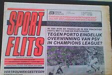 Programme PSV Netherlands - FC PORTO Portugal 1992-1993 CHAMPIONS LEAGUE
