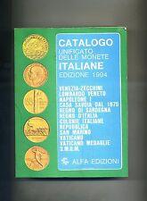 CATALOGO UNIFICATO DELLE MONETE ITALIANE 1994 #Alfa 2 1993