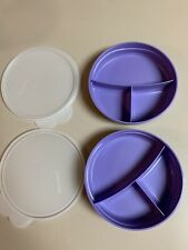 Vintage Tupperware Kids Reheatable Divided Bowls, Set Of Two.