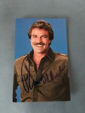 Tom Selleck HAND SIGNED 3 1/2 X 5 1/2 Postcard from 1983 w/COA EXTREMELY RARE