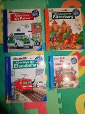 Ravensburger Wieso Weshalb Warum 3 Bücher Paket + 1 Junior, Polizei, Feuerwehr