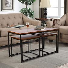Set of 3 Side End Table Tea Coffee Table Living Room Home Furniture