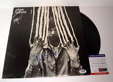 PETER GABRIEL GENESIS SIGNED AUTOGRAPH VINYL RECORD ALBUM PSA/DNA COA