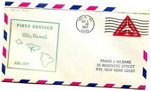 Pan American First Flight Hilo Hawaii - San Francisco California - 1967