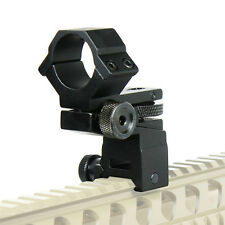 "Tactical Flashlight / Laser / Scope Mount Windage Elevation Adjustable 1"" Ring"
