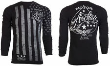 Archaic Affliction Mens L/S T-Shirt NATION Blk USA FLAG American Biker S-3XL $58