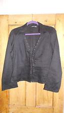 Women's Mexx Linen Black Shirt  - Size 12