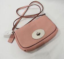 NWT! Coach F52896 LIV Pebbled Leather Crossbody Bag / Clutch in Pink