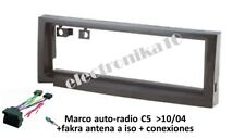 Marco de montaje auto-radio C5 10/04>, Peugeot 407 + conexiones