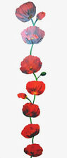 """POPPIES WALL DECAL REMOVABLE 24"""" x 13"""" WASHABLE CAN REPOSITION new SEE PICS>>>>"""