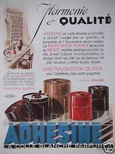 PUBLICITÉ 1933 ADHÉSINE COLLE BLANCHE PARFUMÉE FABRIQUE CORECTOR - LEMONNIER