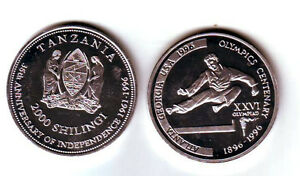 Rare 1996 Tanzania Alum 2000 shillings Olymp.TaeKwonDo/Judo T1-Mintage 100