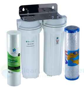 Premium Twin Undersink Water Filter System USA Chloramine and Lead Removal !
