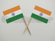 72 INDIANO BANDIERA Plettri-BUFFET Sandwich decorazioni per cupcake-India Bandiere