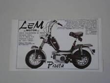 advertising Pubblicità 1977 LEM MOTOR PIZETA