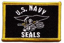 Écusson brodé drapeau USA Etats-Unis Navy Seals américain 5x8cm Thermocollant