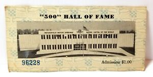 1977 Indianapolis Motor Speedway Hall of Fame ticket stub, Indy 500 auto racing