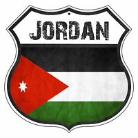 Jordan Country Flag Novelty Highway Shield Man Cave Aluminum Metal Sign