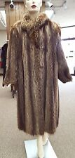 "Natural Raccoon Letout 48"" Coat; size 14"