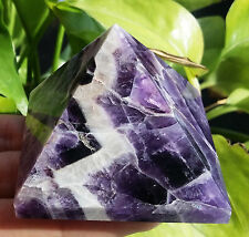 TOP!!! 114g Natural Dream Amethyst Quartz Crystal Pyramid Healing China D3