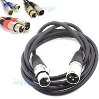 Microphone Lead / Mic Cable / XLR Patch Lead Balanced Male to Female Plugs