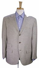 * POLO * Ralph Lauren Corneliani Gray Tweed Peak Lapel 100% Camel 3B Blazer 42R