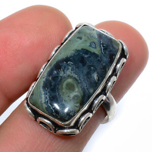 Galaxy Star Jasper Gemstone 925 Sterling Silver Jewelry Ring s.7.5 VIR-232