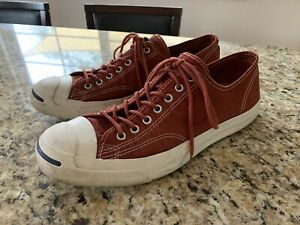 Jack Purcell Vintage Converse Sneakers Men's size 11 Women's size 12.5 RED CORK