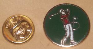 golfer lapel badge golf  PGA golf club  green bolf ball