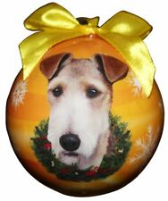 "Wire Fox Terrier-Shatterproof Ball Ornament-3""- by E & S Pets"