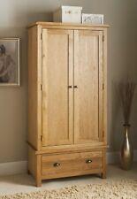 New SB19 Gentle Distressed Look Wiltshire Oak Double Wardrobe Wooden Furniture.