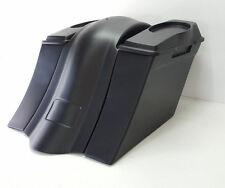 """09-13  No Exhaust Saddlebags/ Fender 6x9 #1 Lids Harley Touring 6"""" Bagger"""