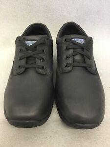 76989 SKECHERS Men's MAGMA Selser Memory Foam Relaxed Fit Non Slip Black #MB