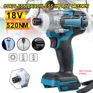18V Cordless Impact Wrench Brushless Driver Torque Replace For Makita Battery UK