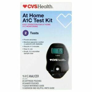 CVS PHARMACY A1C Self Check Home A1C System 2 Test Kit GLYCEMIC FRESH