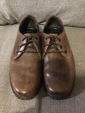Hush Puppies Men's Brown Leather Villy Victory Shoes UK Size 7 Smart shoes Work