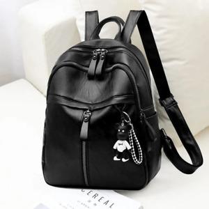 Women Travel Backpack Soft PU Leather School Anti-theft Shoulder Bag Handbags