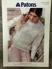 07fc8a7a85f71 Patons Knitting Pattern 4926 Ladies DK Sweater 32-42