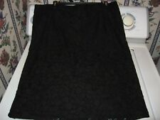 WOMENS SKIRT SIZE 16 XLARGE HOLIDAY BLACK LACE PENCIL SKIRT CHAPS RETAIL59.00