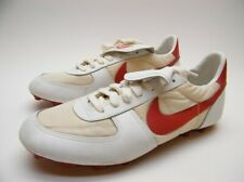 MENS VINTAGE 1982 NIKE BASEBALL FOOTBALL SOCCER CLEAT SHOES RED WHITE SZ 11 1/2