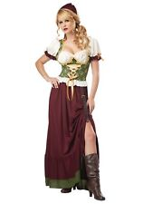 ADULT RENAISSANCE WENCH COSTUME SIZE SMALL 6-8 (missing skirt belt)