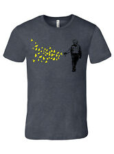 Pepper spray cop, banksy style shirt, mens charcoal premium tee tshirt