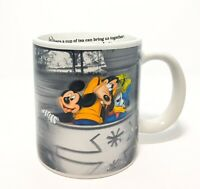 -RARE Disneyland Resort Tea Cup Ride Mug Mickey Mouse Goofy Donald Duck Teacups