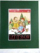 """New listing Mary Engelbreit Matted Calendar Print 8 X 10"""" Let it Snow #119"""
