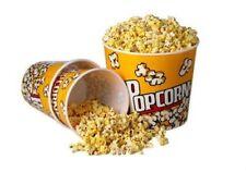 Plastic Popcorn Tub Superbowl Snack Bowl Bucket Retro Theater Style Container
