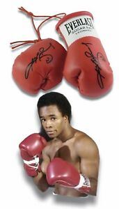 Autographed Mini Boxing Gloves Sugar Ray Leonard