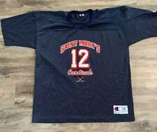 Vintage Saint Mary's Cardinals Hockey Jersey Champion Mens Size 48 RARE NCAA