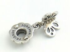 Authentic Friendship Forever Butterfly Half S925 ALE Pandora Charm 2.8g 1in J018