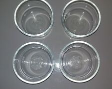 New Pyrex 7202 1 Cup Round Glass Storage Bowl Lot of 4